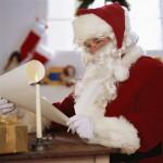 Santa Claus Reading a List