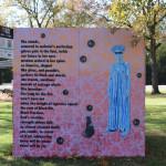 Artists:  (visual) Stephani Rond (poem) Cynthia Amoah, Dionne Custer Edwards, Barbara Fant, Bahirah Malik, Nafisah Malik and Tyiesha Radford Shorts